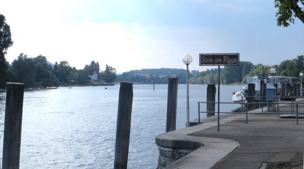 Stein am Rhein: Schiffländi (25.7.2018; Foto: Meyerbröker)