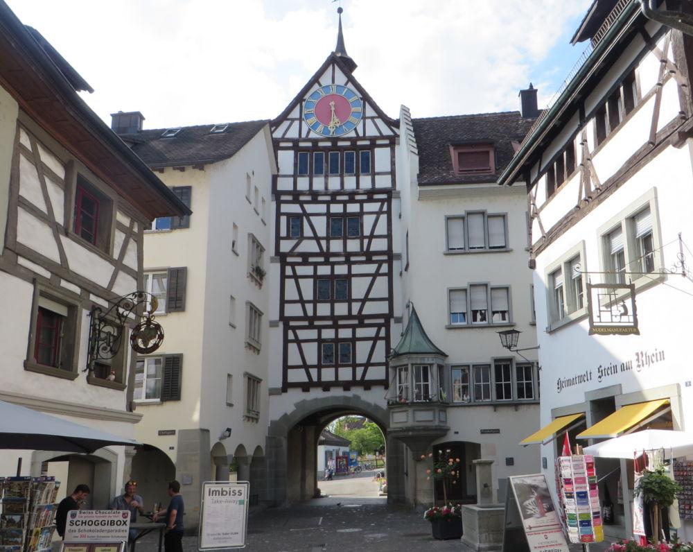 Stein am Rhein: Untertor (25.7.2018; Foto: Meyerbröker)