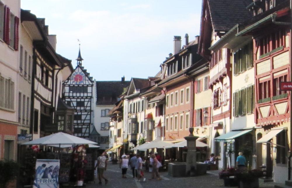 Stein am Rhein: Understadt (25.7.2018; Foto: Meyerbröker)