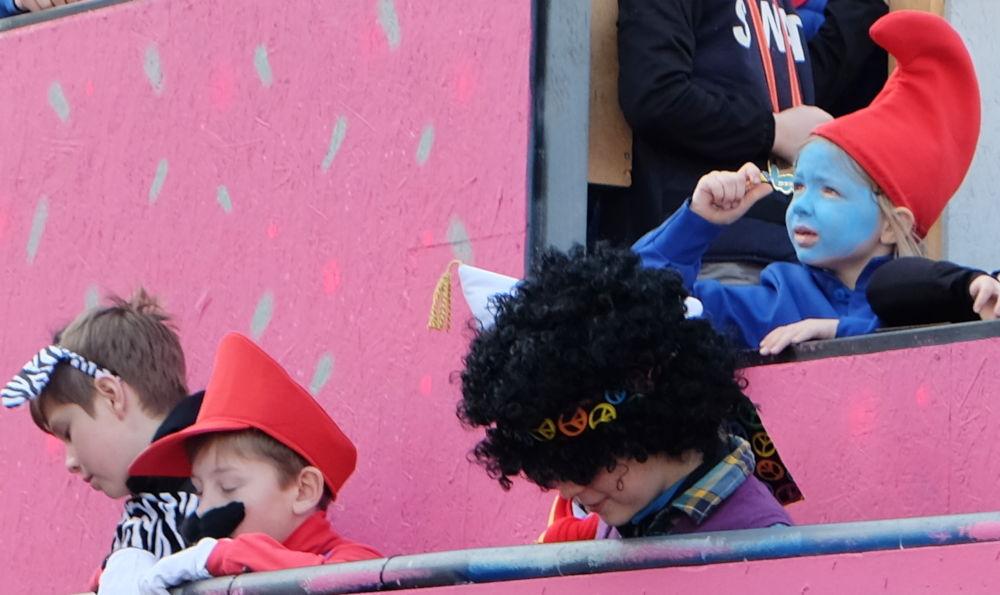 Karnevalsumzug 2019: Kinder-Wagen (23.2.2019; Foto: Klare)