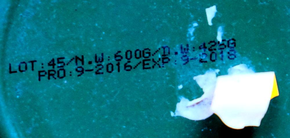 Etiketten über dem Mindesthaltbarkeitsdatum (MHD) (28.2.2019; Foto: Klare)