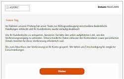 """Phishing-Email vom """"Oasenplatz"""" (10.3.2019; Foto: Klare)"""
