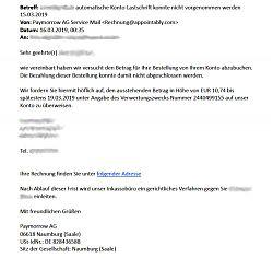 "Phishing-Email von ""appointably.com"" (16.3.2019; Foto: Klare)"