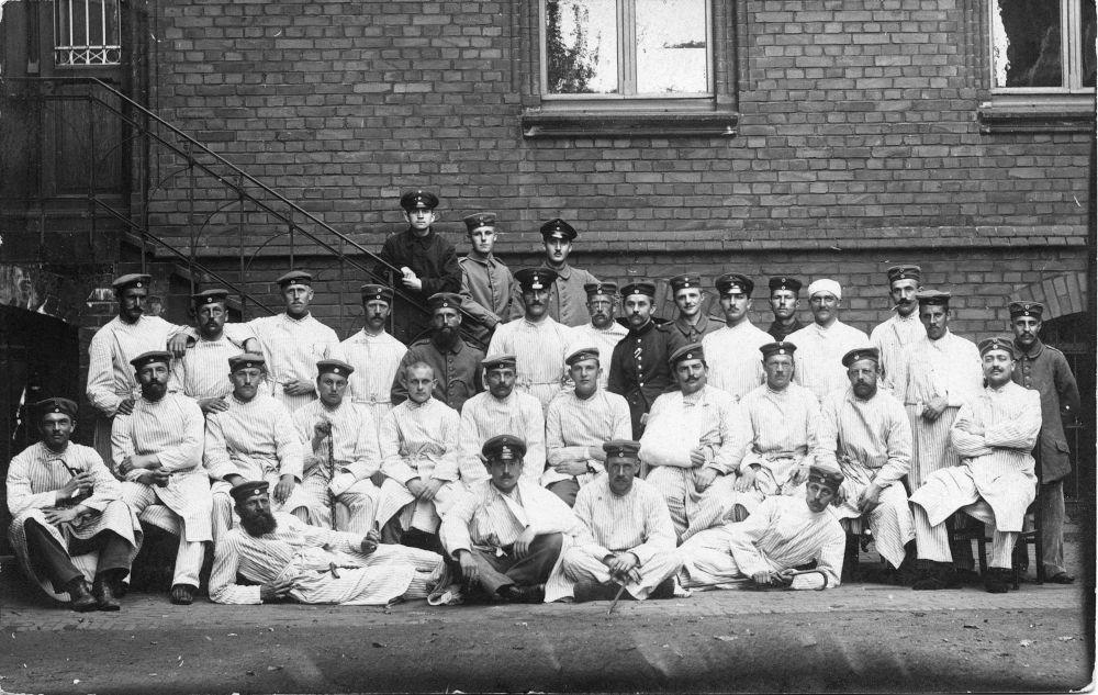 Postkarte aus dem Lazarett im Hiltruper Missionshaus (Juli 1915)