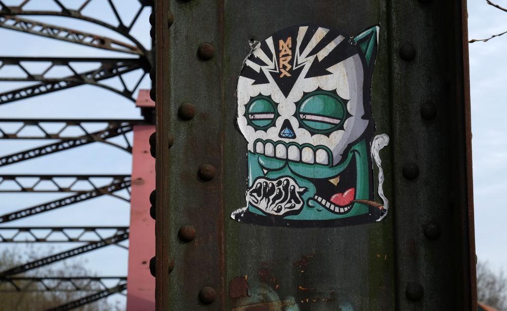 Prinzbrücke: Der reine Horror (24.3.2019; Foto: Klare)