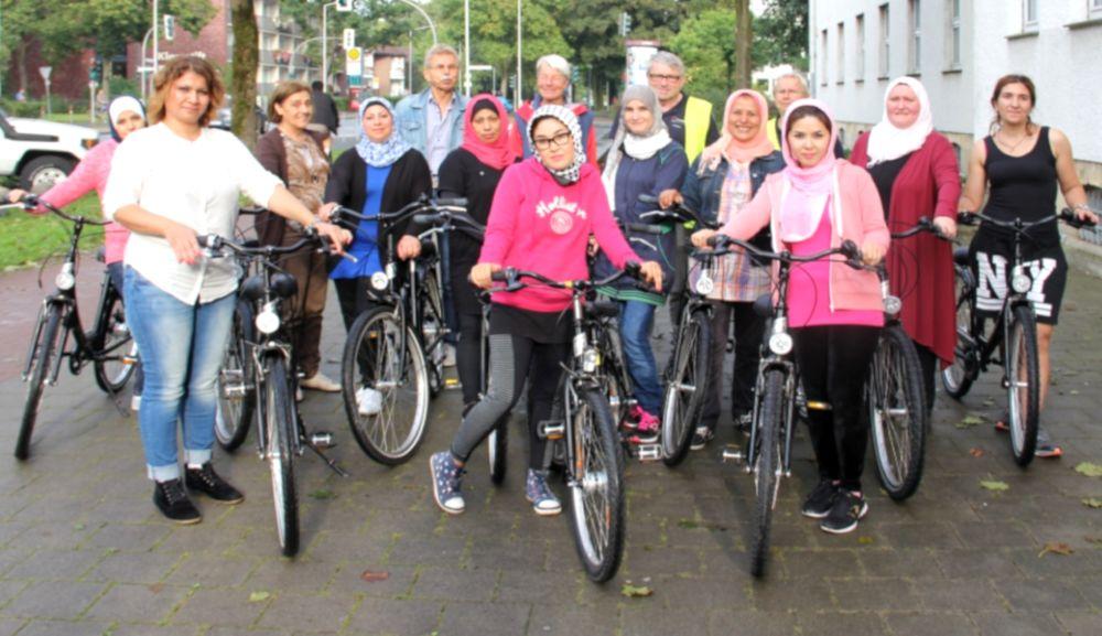 Fahrradkurs von Alter Post und ADFC