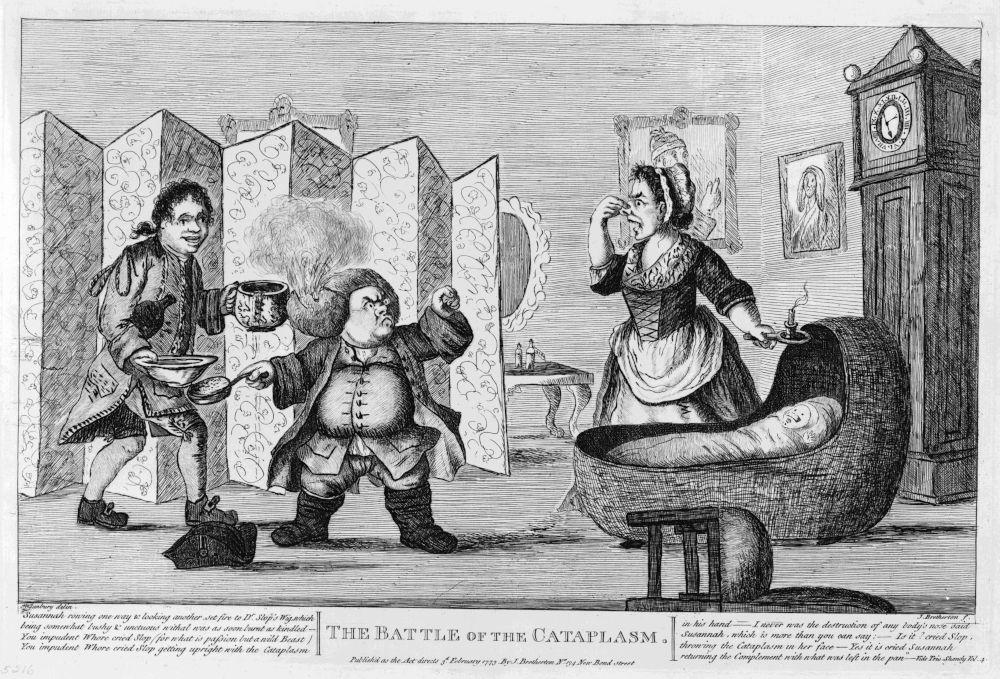 Illustration von Henry William Bunbury (London, 1773) zu dem Roman Tristram Shandy