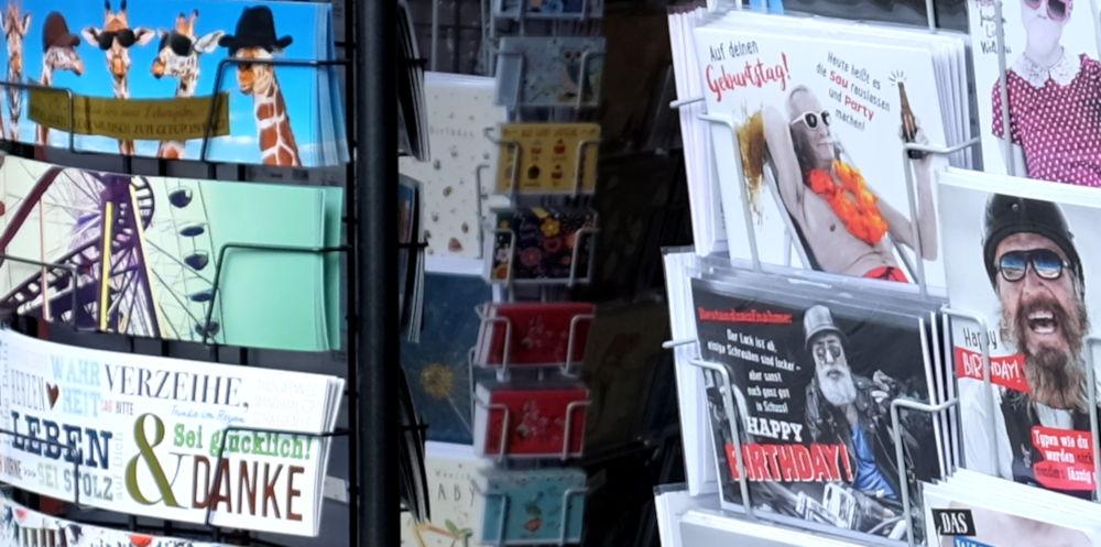 Zeitschriftenstand an der Marktallee (4.5.2019; Foto: Klare)