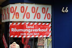 Räumungsverkauf wegen Geschäftsaufgabe: Mullewapp schließt (15.6.2019; Foto: Klare)