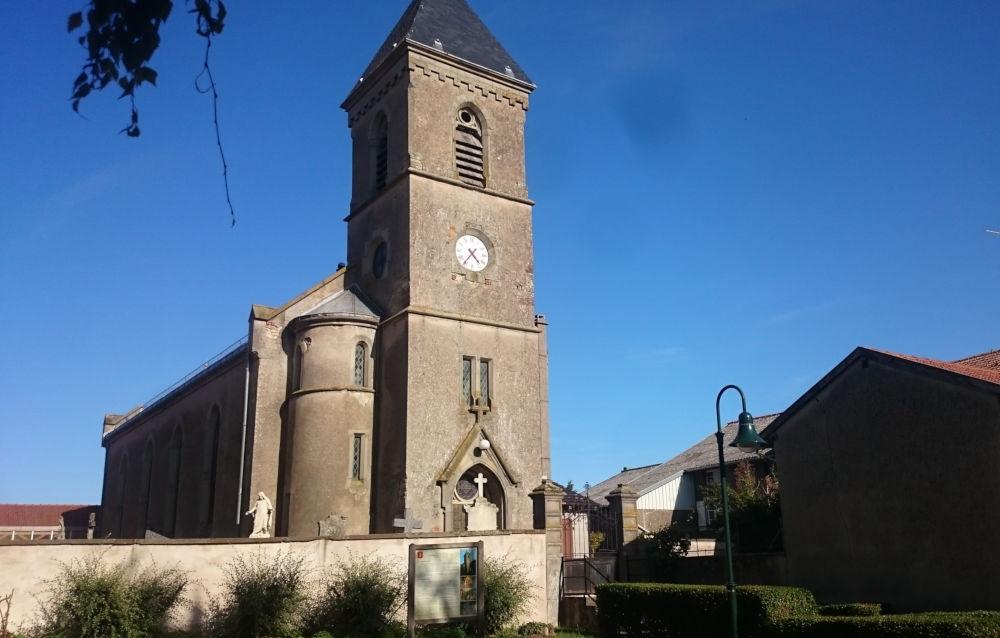 Kirche von Guermange (19.9.2019; Foto: Klare)
