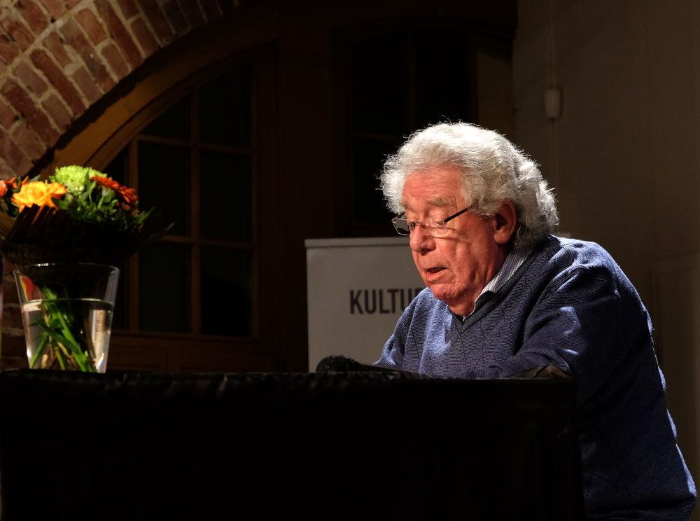 Günter Rohkämper-Hegel (Kulturbahnhof, 4.10.2019; Foto: Klare)