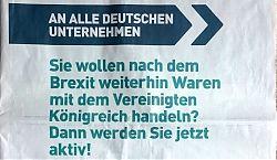 Ganzseitiges Inserat der britischen Regierung in der Süddeutschen Zeitung (19.10.2019, Ausschnitt)