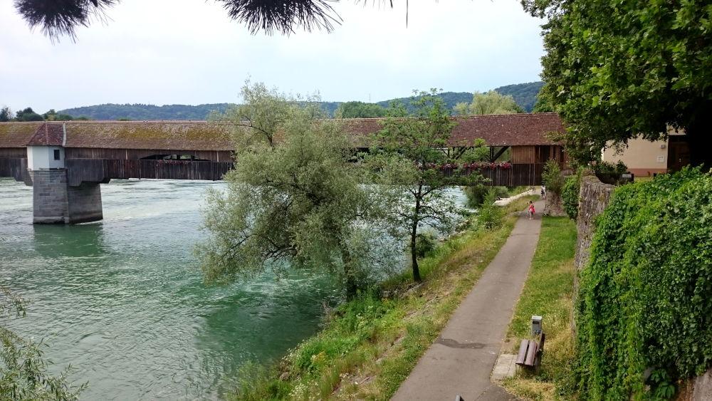 Rheinbrücke Bad Säckingen (6.7.2019; Foto: Klare)