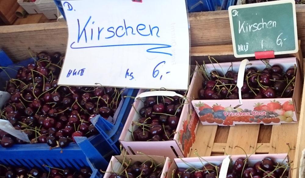 dem Münster die Kirschen (Bad Säckingen, 6.7.2019; Foto: Klare)