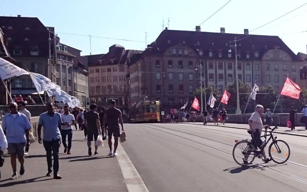 Autofreie Innenstadt (Basel, 6.7.2019; Foto: Klare)