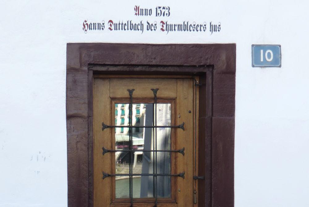 Des Thurmblesers hus (Basel, 6.7.2019; Foto: Meyerbröker)