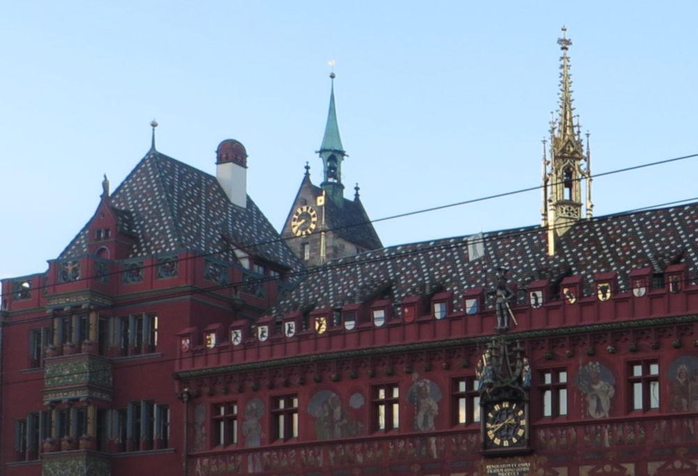 Rathaus Basel (6.7.2019; Foto: Meyerbröker)