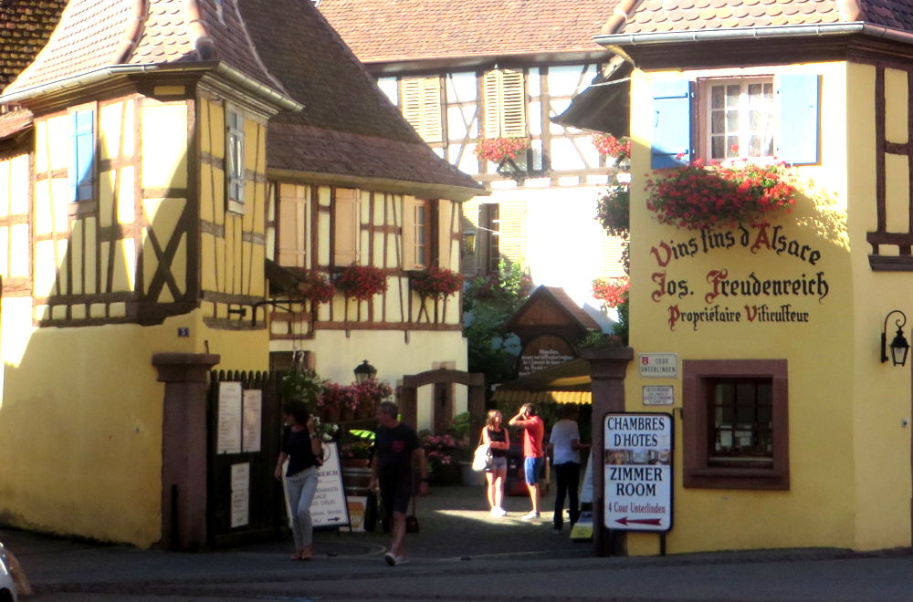 Vins fins d'Alsace Jos. Freudenreich (Eguisheim, 9.7.2019; Foto: Meyerbröker)