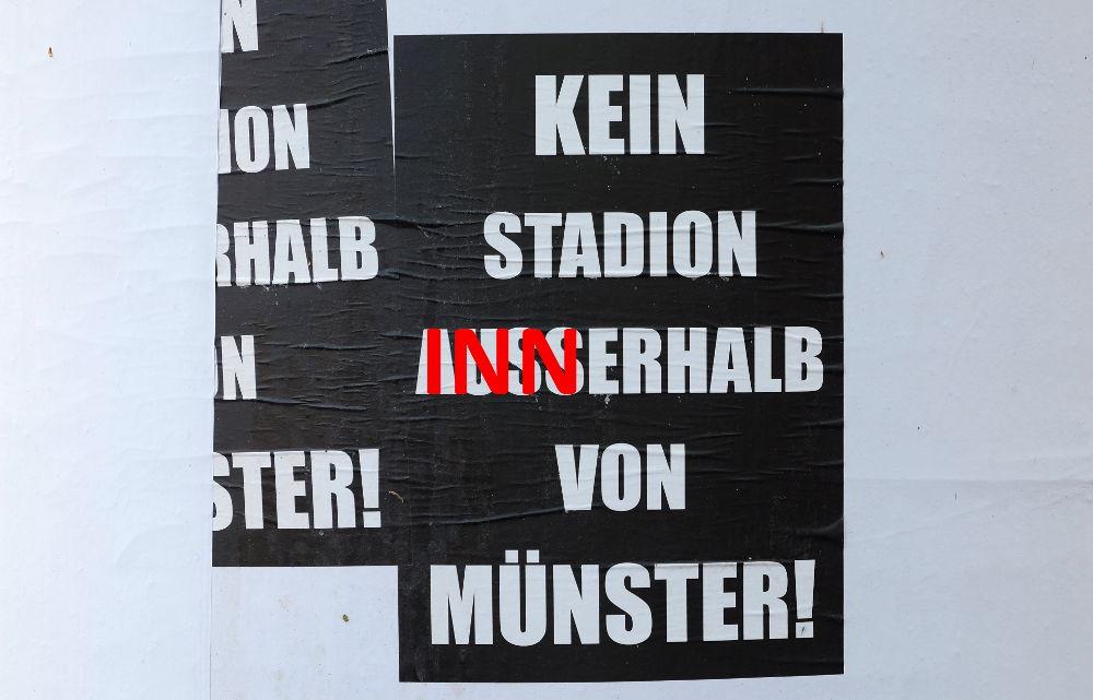 Kommt das dabei heraus, wenn der SC Preußen 08 sich in seine Neubaupläne verbeißt? (Montage: Klare)