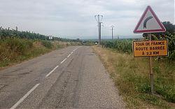 Auch an Itterswiller ist die Tour de France vorbei gezogen (11.7.2019; Foto: Klare)