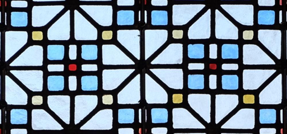 Fenster in St. Clemens Hiltrup (21.1.2020; Foto: Klare)