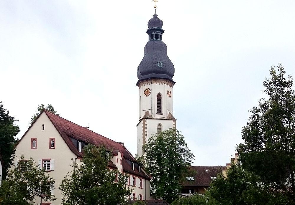 Läutturm der Dreifaltigkeitskirche (Speyer, 14.7.2019; Foto: Klare)