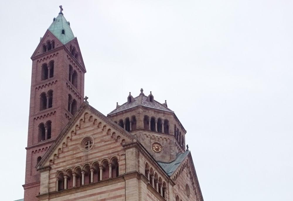 Westwerk des Doms (Speyer, 14.7.2019; Foto: Klare)