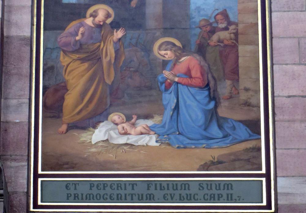 Fresko aus dem 19. Jahrhundert (Speyerer Dom, 14.7.2019; Foto: Meyerbröker)
