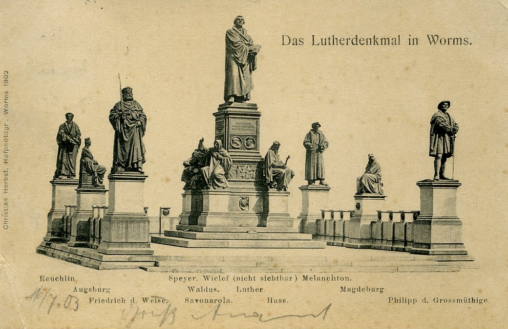 """""""Das Lutherdenkmal in Worms"""" (Postkarte)"""