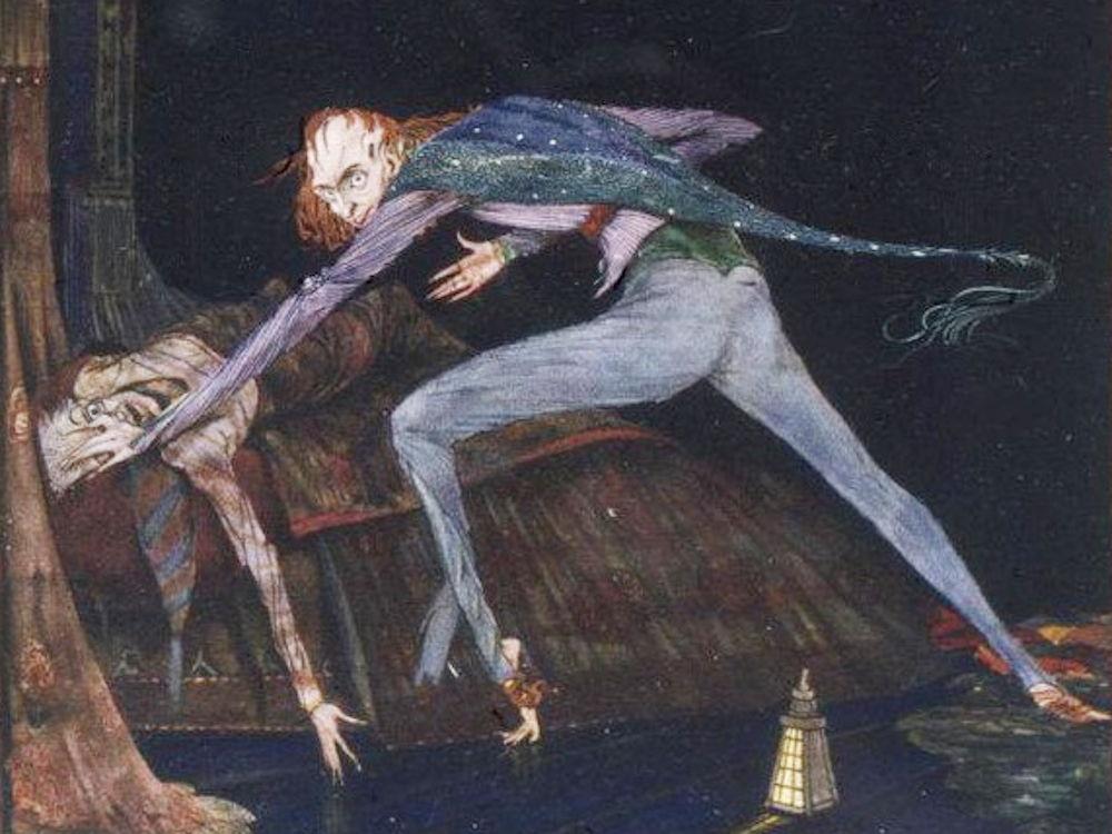Illustration zu einer Erzählung von Edgar Allan Poe (Harry Clarke, ca. 1919)