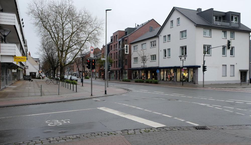 Freitagnachmittag: Marktallee im Corona-Schock (20.3.2020; Foto: Klare)