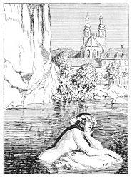 Die schöne Lau (Illustration von Franz Stassen zu Eduard Mörike, Historie von der schönen Lau)