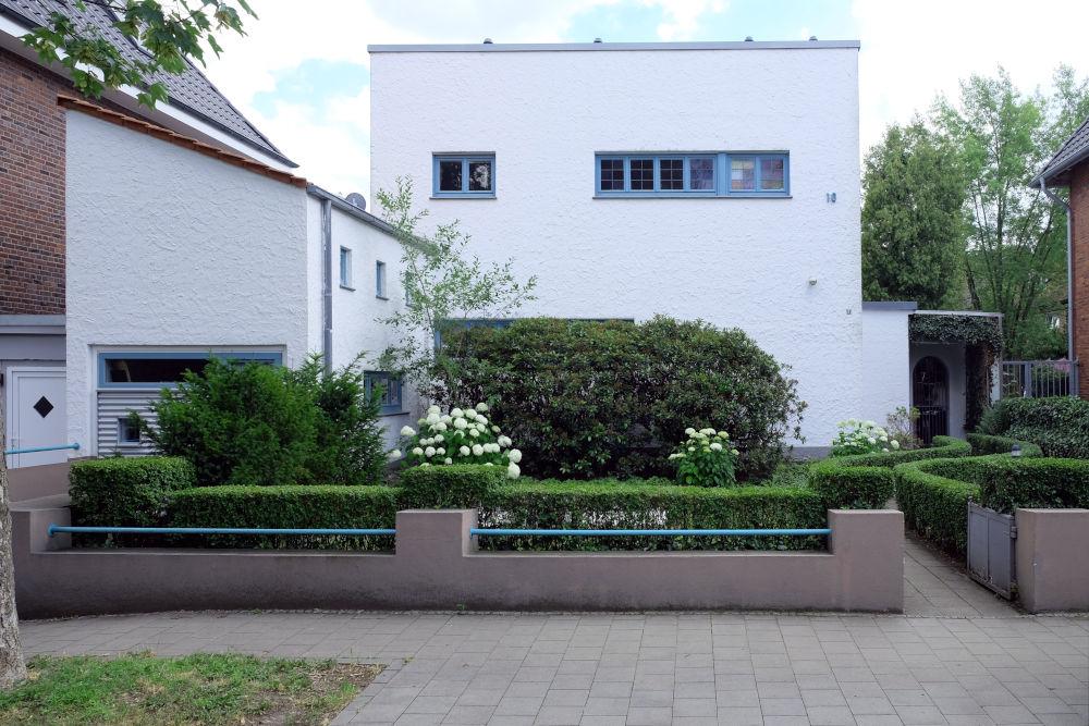 Bauhausarchitektur an der Max-Winkelmann-Straße 10 (29.6.2020; Foto: Klare)