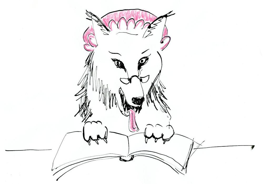 Vorlesen (Zeichnung: Wobbeke Klare)