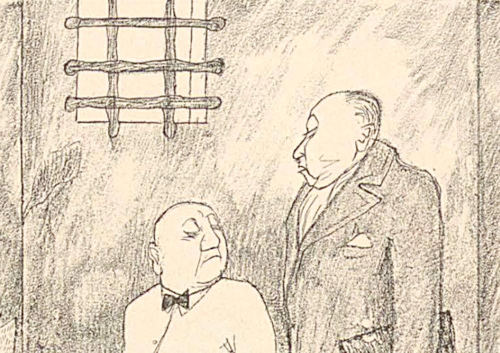"""""""Tja, Herr Direktor, Zucker habense nich, Eiweiß habense nich, - wennse sich nu nich bald zu 'nem Nervenzusammenbruch entschließen, kann ich als Anwalt für nischt mehr garantieren."""" (Simplicissimus, 1932)"""