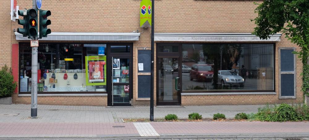 Marktallee 47: Zeitschriften und Tabak gegen Leerstand (11.8.2020; Foto: Klare)