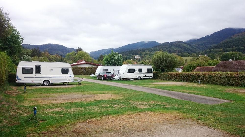 Nach dem Regen: Camping in Badenweiler (26.9.2020; Foto: Klare)