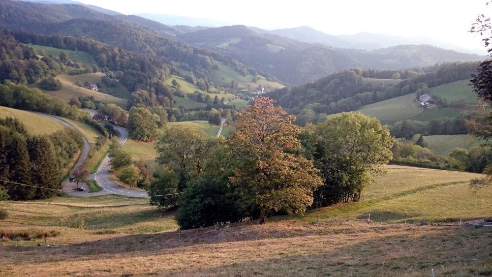 Blick vom Gerstenhalmstüble über St. Ulrich (21.9.2020; Foto: Henning Klare)