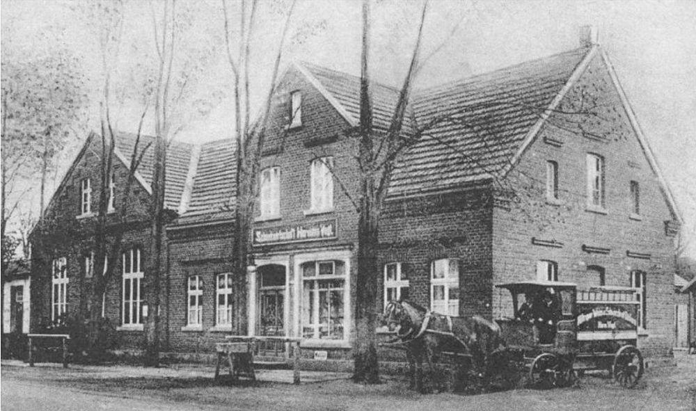 Hiltrup um 1900: Bäckerei Vogt / Kaffee, Restaurant (alte Postkarte; heute Marktallee 73)