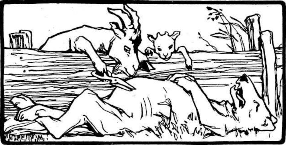 Otto Ubbelohde: Der Wolf und die sieben jungen Geißlein (1909)