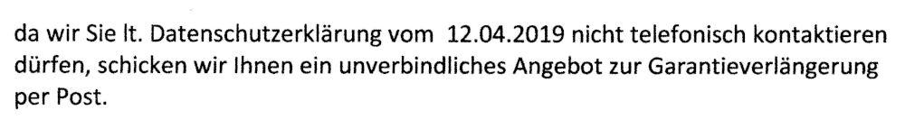 Kunden werden zum Kauf von Garantieverlängerungen gedrängt (29.3.2021)