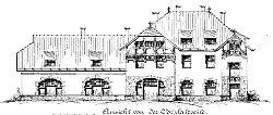 Bahnhof Hiltrup (16.4.1907, Zeichnung)