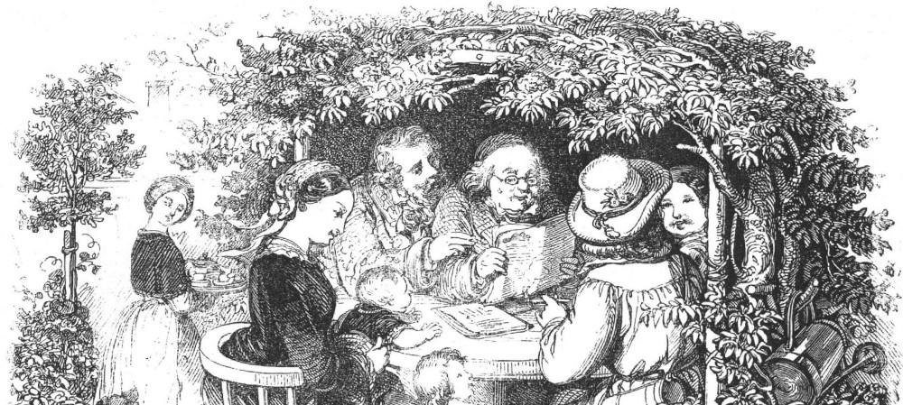 Die Gartenlaube (1853, Titelseite der Erstausgabe, Ausschnitt)