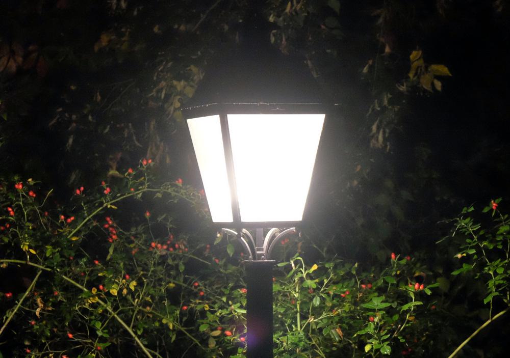 Mondschein und Laternenlicht (1.10.2021; Foto: Henning Klare)