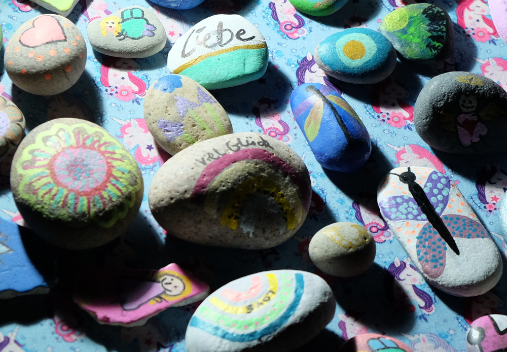 Die bunte Welt der Steine (1.10.2021; Foto: Henning Klare)