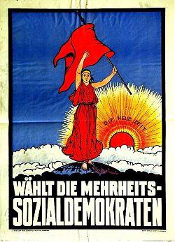 """SPD-Wahlplakat von 1919: """"Wählt die Mehrheits-Sozialdemokraten"""""""