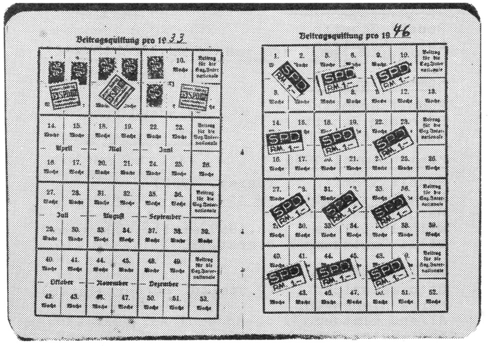Das Verbot der SPD ist durch die Lücke in den Beitragszahlungen von Frühjahr 1933 bis 1945 dokumentiert. Stoffers hat 1945 am Neubeginn der Hiltruper SPD mitgewirkt und war später Ehrenvorsitzender.