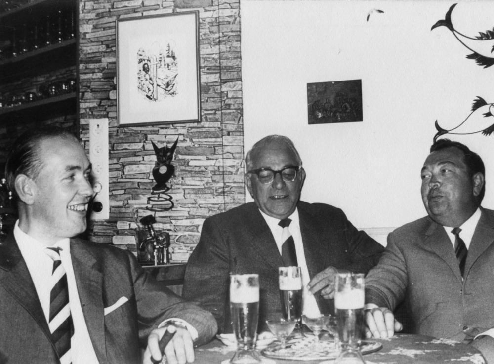 v.l.: Dr. Franz Tölle, Theo Harbaum und Amtsbaurat Plagemann