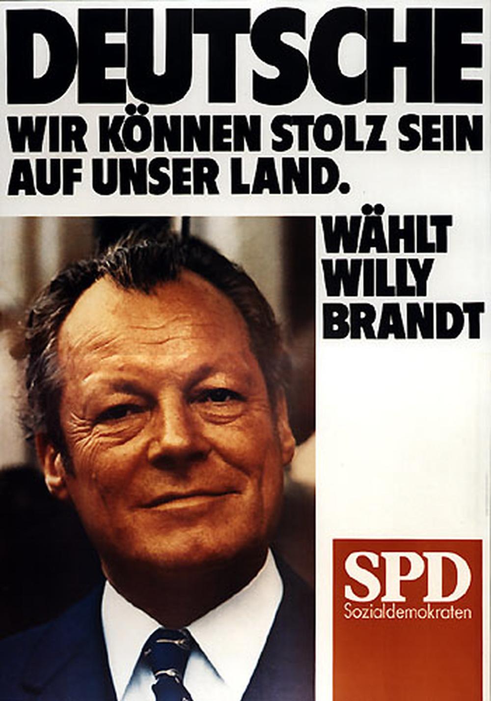 """SPD-Wahlplakat """"Willy Brandt"""" zur Bundestagswahl 1972"""