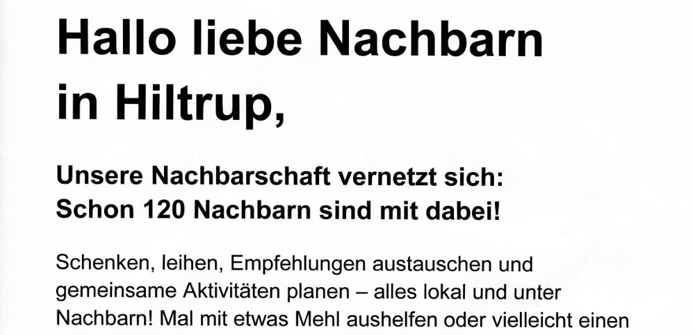 Werbeflyer der Good Hood GmbH / nebenan.de, verteilt am 22.12.2017 in Münster-Hiltrup (Aussch